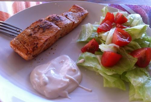 Fiskemagasinet.se rekommenderar fiskreceptet Jesses Cajunlax med Chipotle-Aioli