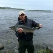 laxwirre på kusinträff med fiskelycka i fisketidning