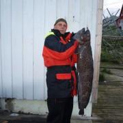 team poseidon i söröya - 2011 med en fläckig havskatt på 17,1 kg i fisketidningen