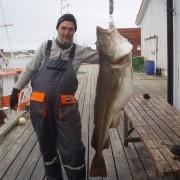 team poseidon i söröya - 2011 med en sommartorsk på 28, 35 kg i fisketidning
