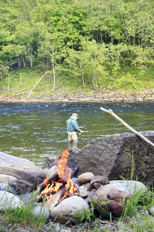 laxfiskare i min första skagitlax i fiskereportage på fisketidning