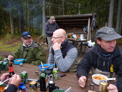 ärtasoppa och punch i lycka och vemod på fisketidningen