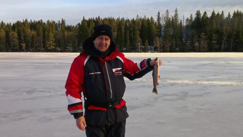 rödingspose i pimpelfiske efter röding del II i fisketidning