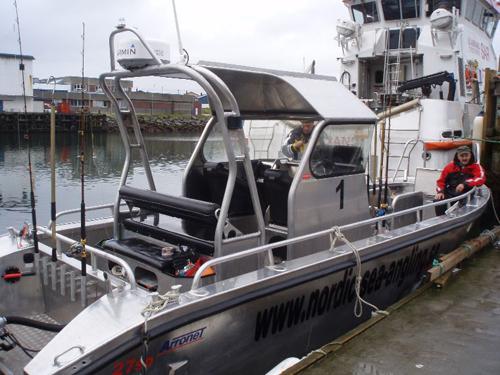 guidebåten i fiskereportaget söröya - 2009 i fisketidningen fiskemagasinet.se