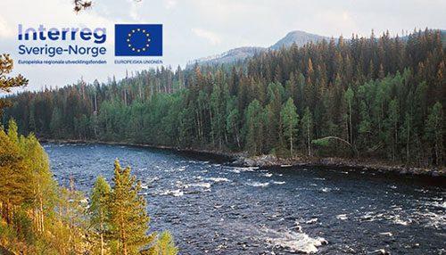 Miljöbild från Strängforsen, norra Värmland