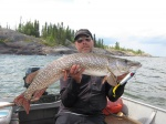 Claes Claesson hade fiskelycka i Taltson Bay Big Pike Lodge 2012.